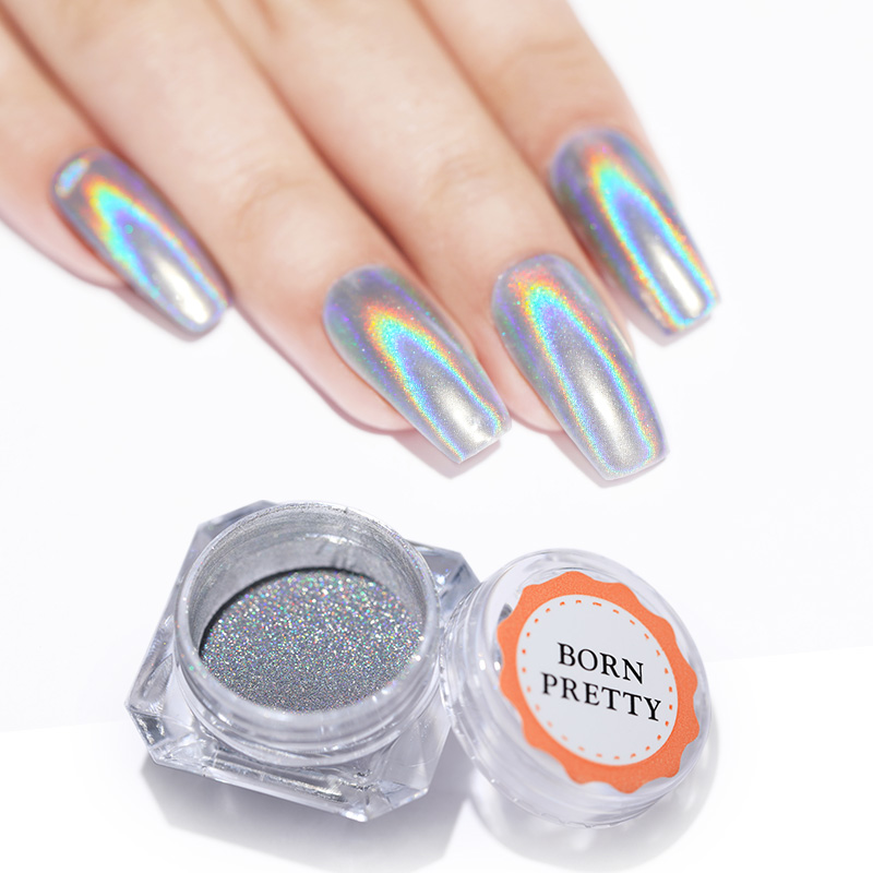 Shiny Laser Nagel Pulver Holographische Nagel Glitter 1g Staub Bunte Chrome Pigment Maniküre Pigmente Nagel Kunst Dekorationen