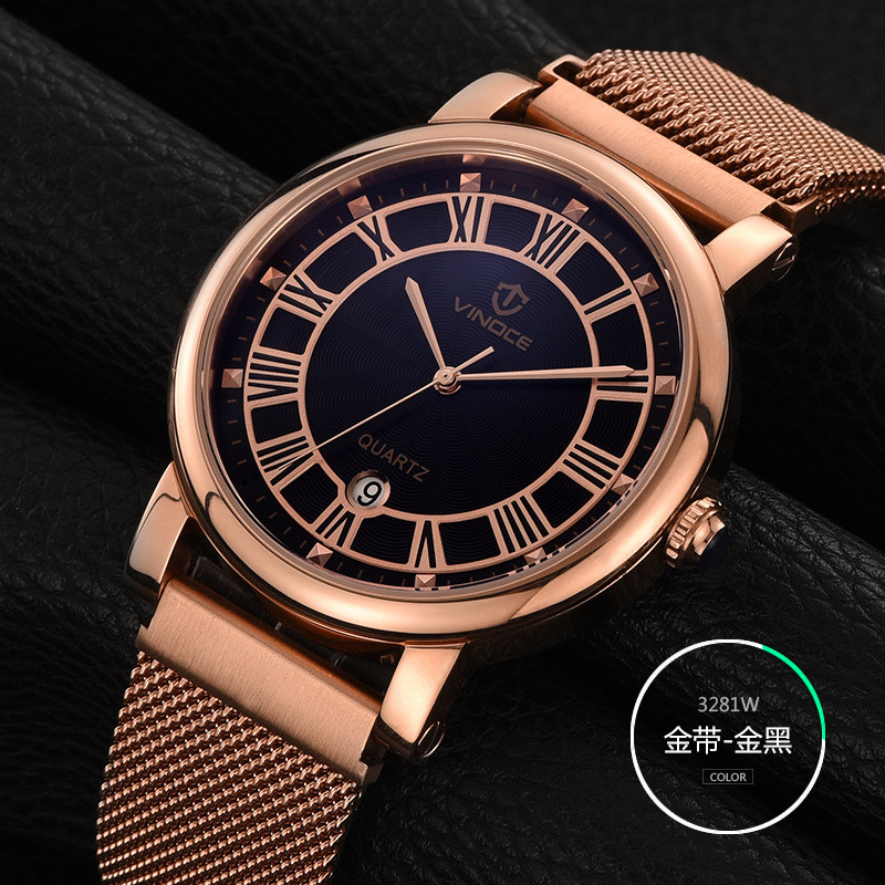 2017 Mens Business Watches VINOCE Top Brand Luxury Waterproof Watch Roman numerals Man Steel Sport Quartz Watch Men Clock Male migeer relogio masculino luxury business wrist watches men top brand roman numerals stainless steel quartz watch mens clock zer