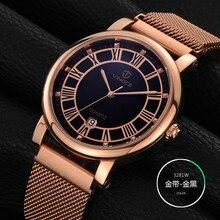 2017 Mens Business Watches VINOCE Top Brand Luxury Waterproof Watch Roman numerals Man Steel Sport Quartz