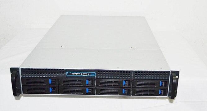 A 2U8 hard disk hot plug rack server storage case VOD karaoke machine chassis 5208 73p8005 73p8017 300g 10k fc ds4300 server hard disk one year warranty