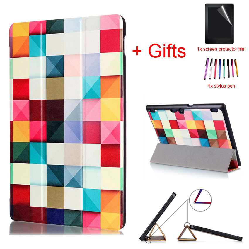 Flip Case For Lenovo Tab 2 10.1 A10-30 A10-70 X30F X70F PU Leather Case for Lenovo Tab 3 10 plus TAB-X103F Tablet case +Film+Pen tempered glass screen protector film for lenovo tab2 tab 2 a10 30 a10 30 x30f tb2 x30f x103f 10 1 tablet dust stickers
