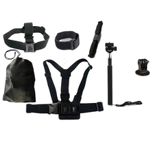 Hot 7pcs Basic Outdoor Sports Accessories Bundle Kit for Gopro4 Action Sports Camera