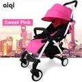 Cochecito de paseo plegable ultra ligero para bebé, cochecito liviano con parachoques portátil y sombrilla  para coche de bb