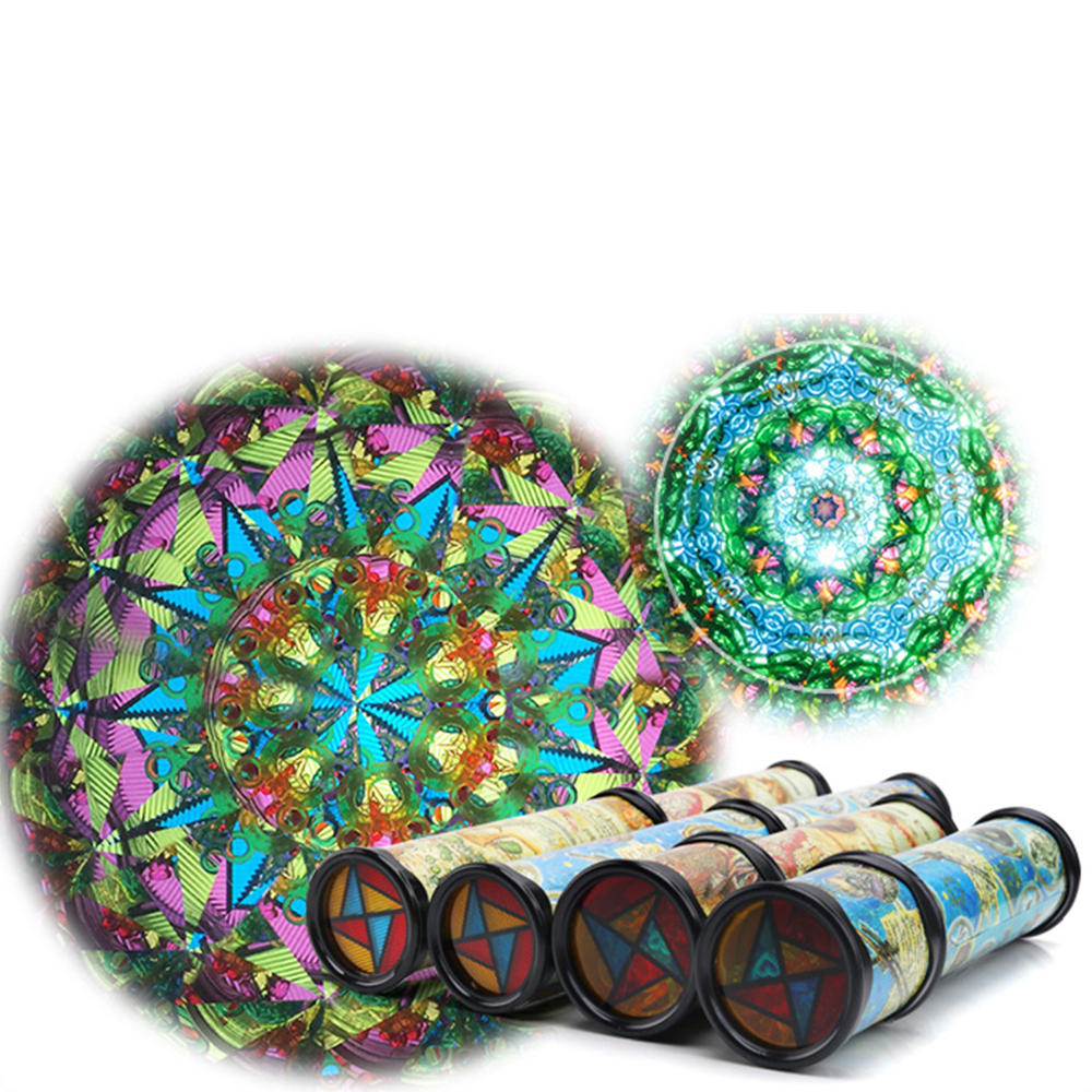 New 21cm Rotation Classic Colorful Kaleidoscope Kids Fancy Lay in Early Childhood Toys For Baby Children Gift Autism Toys