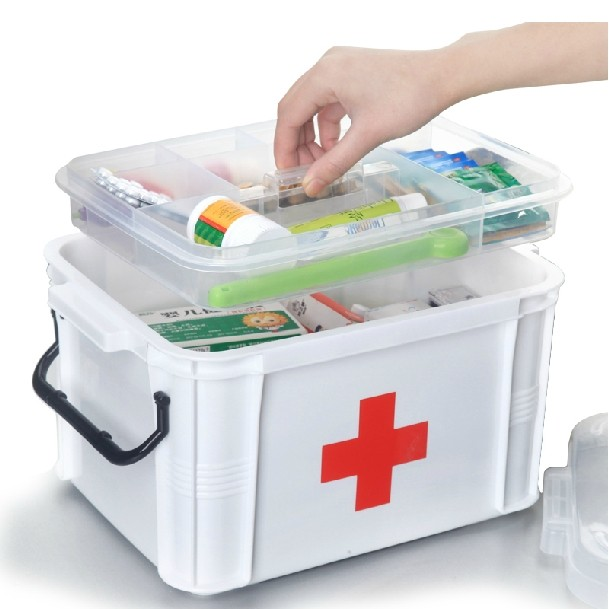 Honey Flower Medicine Box Oversized Multi Layer Storage Medical First Aid For Health