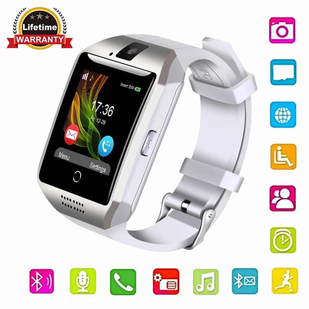 GONOKWE Bluetooth Q18 Smart Watch for Andriod phones,Clock Smartwatch with  Camera, Watch Phone Touchscreen DZ09 X6 M2