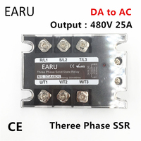 TSR-25DA ssr-25da三相ソリッドステートリレーdc 5-32ボルト入力制御ac 90〜480ボルト出力負荷25a 3相ssr高電力DA4825