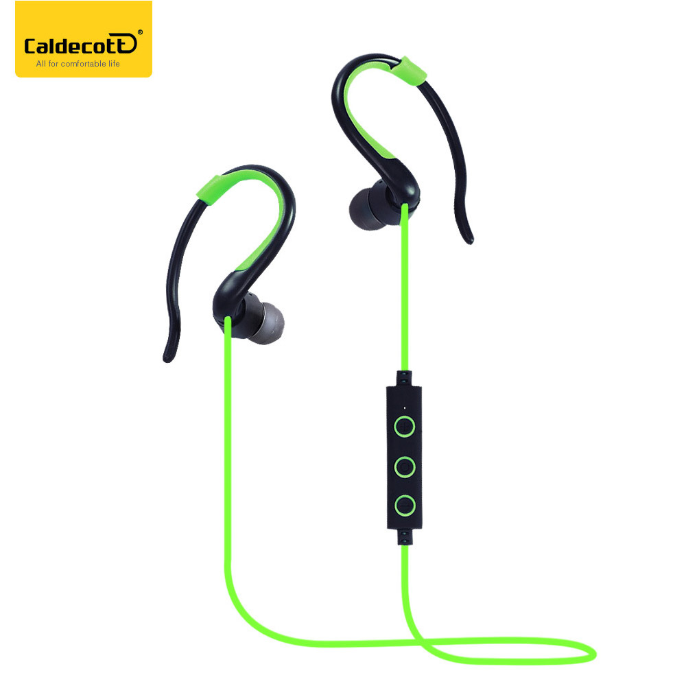 Caldecott Wireless Bluetooth Earphone Earbuds Sport Cordless Earpiece Noise Cancelling Stereo Music Headset for Cellphone Tablet huast v4 1 sport bluetooth earphone with mic wireless headphones bluetooth headset magnet earbuds for phone noise cancelling