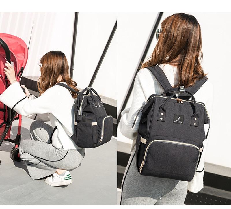 HTB15VVwjcLJ8KJjy0Fnq6AFDpXaO Baby diaper bag mommy stroller bags USB large capacity waterproof nappy bag kits mummy maternity travel backpack nursing handbag
