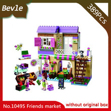 Bevle Store Bela 10495 389Pcs Friends Series Heart City Food Store Model Building Blocks Bricks Toys For Children Toys 41108