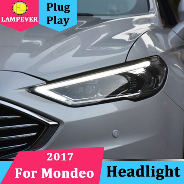 Car Headlights For Ford Mondeo 2017 2018 Led Headlight Fusion Head Lamp Daytime Running Light Drl Bi Xenon Hid Front