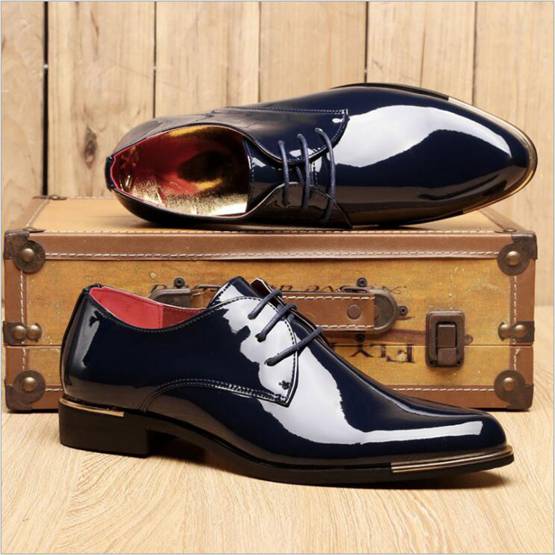 Men Shoes 2016 New Dress Shoes Male Formal Wedding Oxfords Original Handmade Business Shoes Men Sapatos Masculino