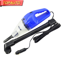 TOPAUTO 120W 12V Vacuum Cleaners Car Super Power Wet And Dry Mini Car Electronics Vacuum Cleaner