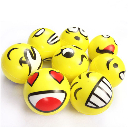 Hot Sale High Quality Squeeze Relief Hand Massage Relaxation Ball Smiley Face Anti Stress Reliever Ball ADHD Autism Mood Toy