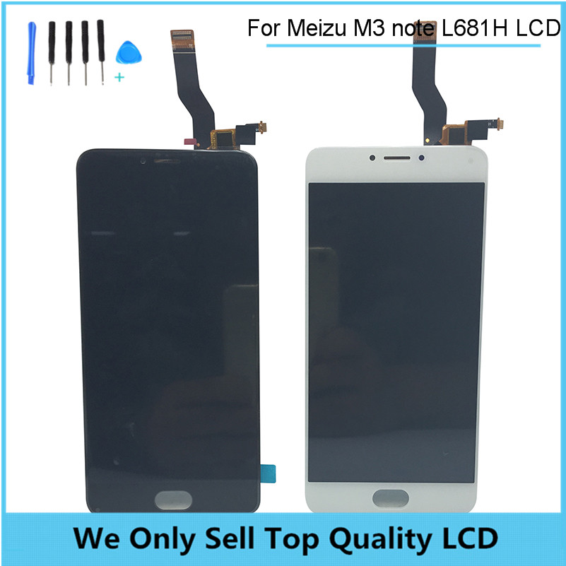 "Replacement LCD for Meizu M3 Note Screen L681H LCD Display+Digitizer Touch Screen 5.5"" Black and White Free Shipping + Tools"