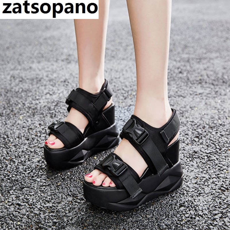 High Quality Sport Sandals Women Platform Wedges Gladiators High Heel Spike Stud Strappy Fashion Summer Sneakers Creepers ShoesHigh Quality Sport Sandals Women Platform Wedges Gladiators High Heel Spike Stud Strappy Fashion Summer Sneakers Creepers Shoes