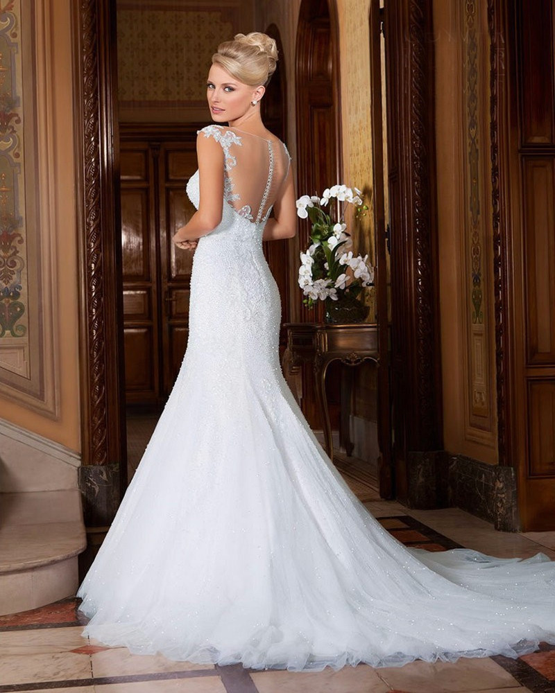 Compare Prices on Wedding Dresses Cap Sleeves No Veil- Online ...