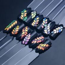 Разноцветные голографические пайетки для ногтей блестящие конские глаза в форме сверкающие ногти хлопья блестка маникюр Дизайн ногтей хлопья украшения