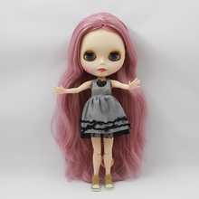 Factory Neo Blythe Doll Deep Pink Hair Jointed Body 30cm