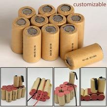 (Pacote personalizável da bateria) ferramenta de alimentação recarregável ni cd ni mh, bateria de célula de sc 3000mah, taxa de descarga 10c-15c