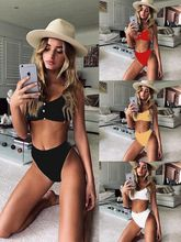 цена на Phaixoneible Sexy Swimwear High Waist Bikini Women Swimsuit Two Piece Bathing Suit Lady Beachwear Female Biquini