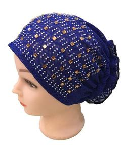 Image 5 - Rhinestone Under Scarf Child Flower Tube Bone Bonnet Inner Ninja Cap Muslim Wrap Beanies Skullies Islamic Chemo Cancer Hat New