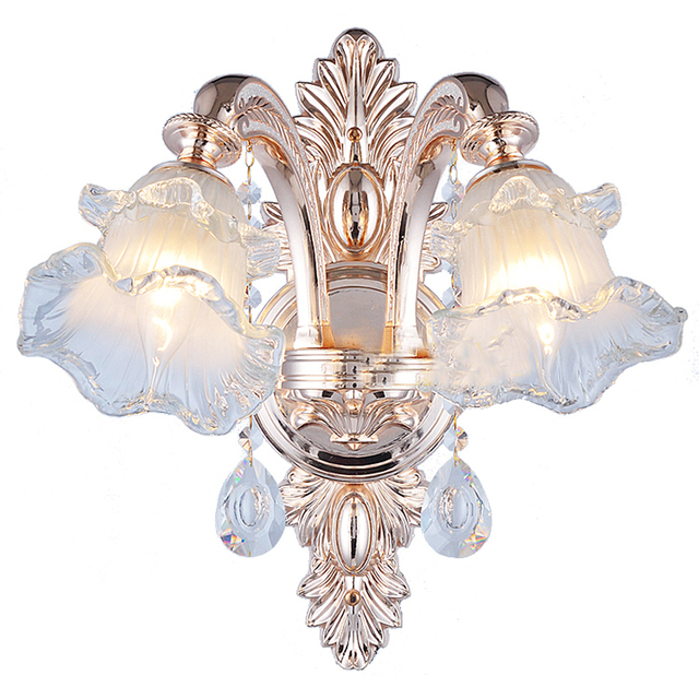 Indoor Modern Crystal Wall Sconces Art Deco Bedroom Wall Light Bedside Lamps LED Wall Lights for Home Wall Sconce Crystal Lamp