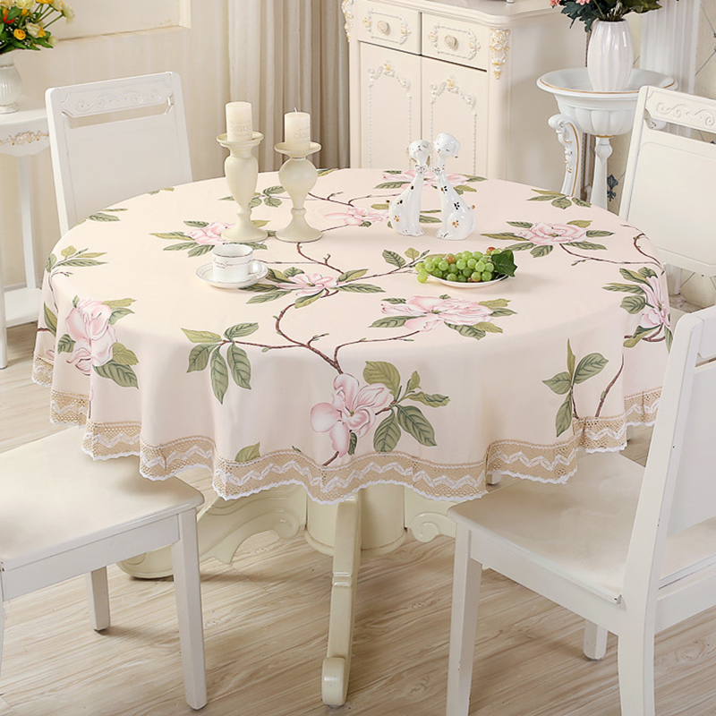 Round Table Cloth Living Room Tablecloth Pastoral Table