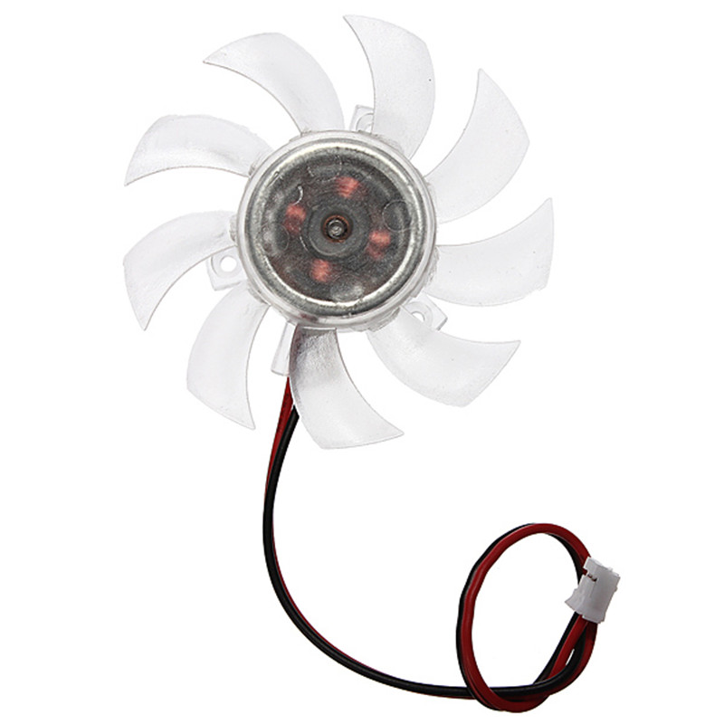 High Quality 12V 2Pins Transparency CPU Fan for PC Computer Heatsink Cooler CPU Cooling Fans 55x10mm