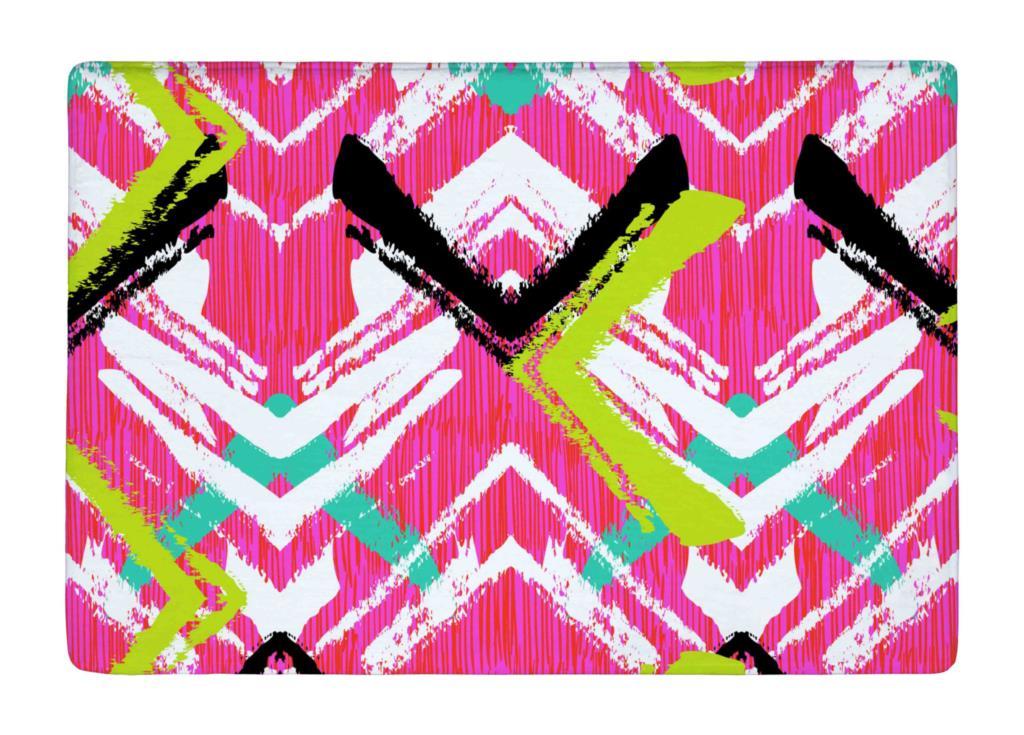 Floor Mat Multicolor Brushed Zigzag Line Print Non slip Rugs Carpets alfombra For font b Indoor