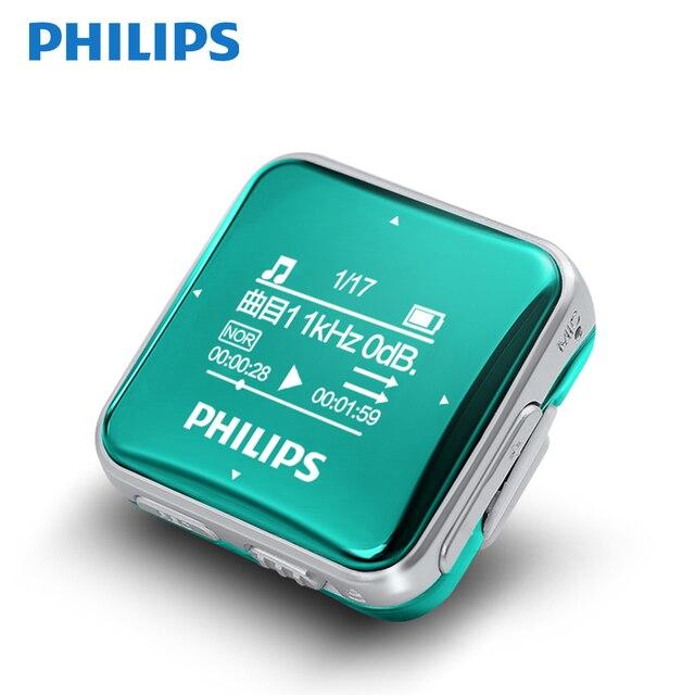 Philips เพลง MP3 8GB กีฬาคลิป MINI Lossless FullSound สเตอริโอ Walkman หน้าจอวิทยุ FM/การบันทึก SA2208