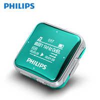 Philips Music MP3 Player 8GB Sports Clip Mini Lossless Fullsound Stereo Walkman Screen With FM Radio / Recording SA2208