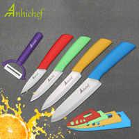 "Cuchillos de cocina cuchillos de cerámica cocinar 3 ""Paring 4"" Utility 5 ""rebanando 6"" Cuchillo de chef utensilios de cocina hoja de cuchillos"