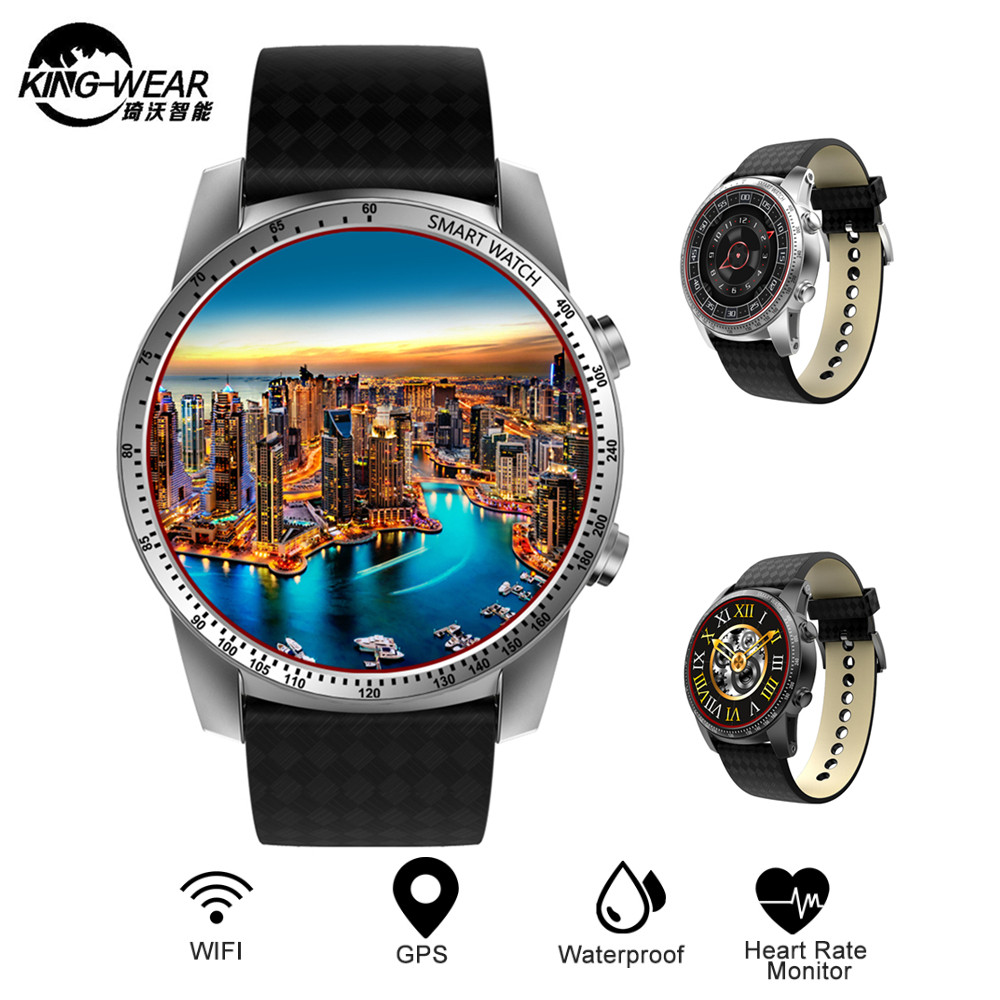 Kingwear KW99 3G Smartwatch Phone Android 5.1 MTK6580 Quad Core 8GB ROM Heart Rate Monitor Pedometer GPS Anti-lost Smart Watch kingwear kw99 3g smartwatch phone android 5 1 mtk6580 quad core 1 3ghz 8gb rom heart rate monitor gps pedometer 1 39smart watch