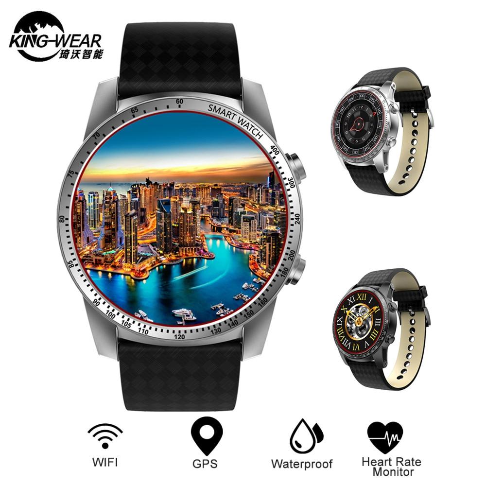 Kingwear KW99 3g Smartwatch Telefon Android 5.1 MTK6580 Quad Core 8 gb ROM Herz Rate Monitor Schrittzähler GPS Anti- verloren Smart Uhr