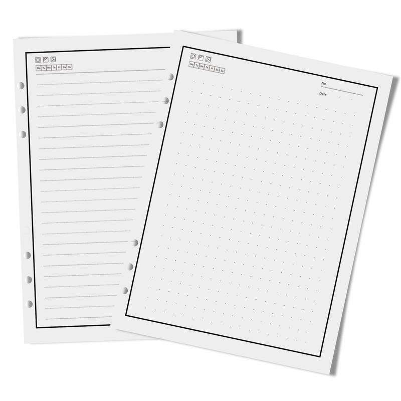 Jia HU 1/A5/Standard Refill Papier 20/Loch 14/x 21/cm Loose Leaf Papier f/ür Binder Notebook Planer Blank Paper