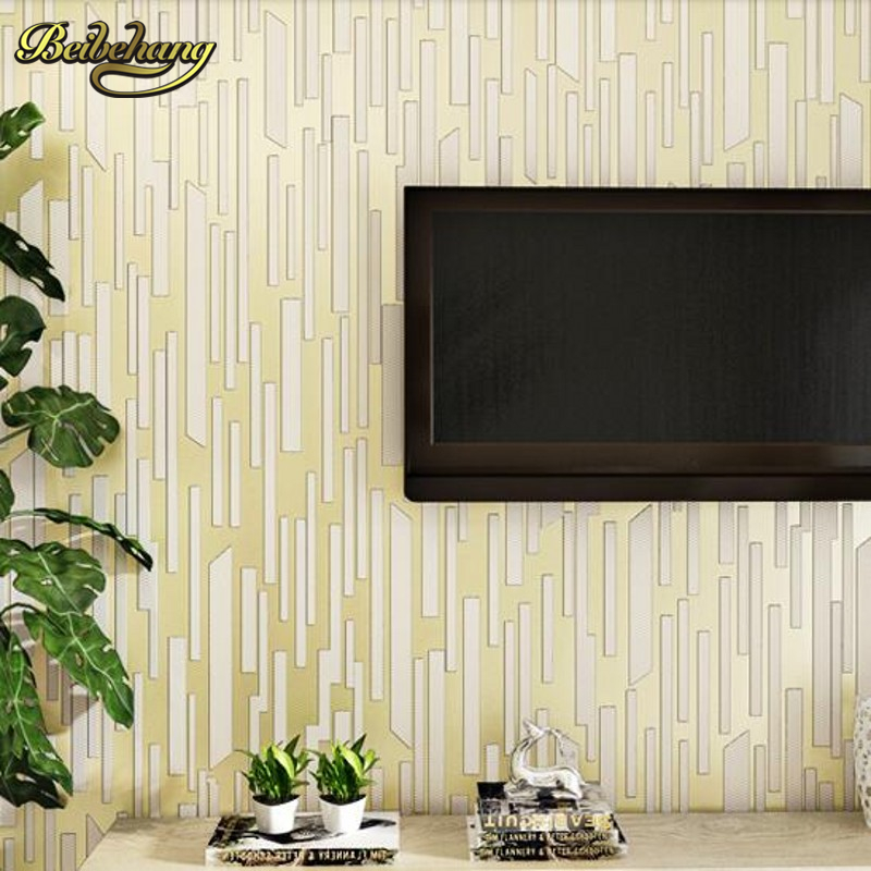 beibehang Wallpaper Vertical stripes modern minimalist bedroom living room sofa TV background 3D non-woven papel de parede. beibehang mediterranean blue vertical stripes wallpaper minimalist living room background wallpaper modern den papel de parede