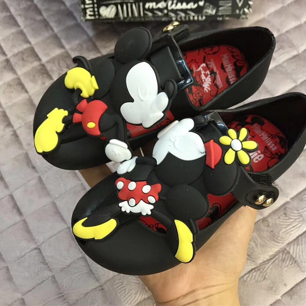 a0893f3804dbe Mini Melissa filles sandales 2019 été Mickey   Minnie jumeaux motif  chaussures gelée chaussure sandales fille