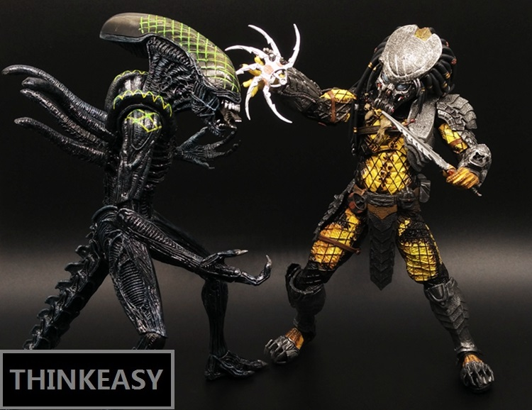 Aliens vs Predator AVP Ganso Lone wol Joint can move doll movie Person Model Decoration figure Toys gift computer table decorate in Action Toy Figures from Toys Hobbies