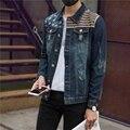 2017 высокая quallity Мужские Куртки И Пальто Весте Homme Военная Мужская Куртка Повседневная Жан Темно-Пальто Мужской Clothing Размер S-XXL