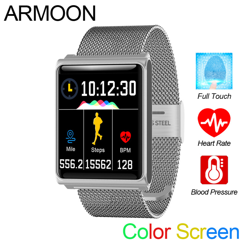 Smart Watch N8 Android IOS Heart Rate Smart Bracelet Sleep Monitor Fitness Tracker Full Touch Color Screen Waterproof Sport Band