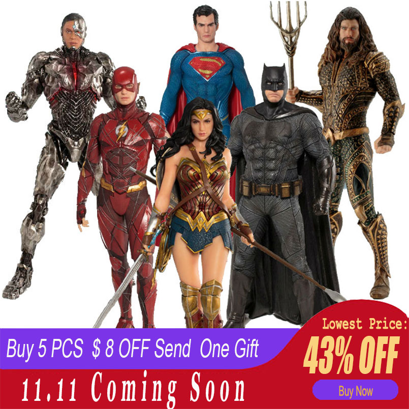 ARTFX+ The Flash Action Figure Batman The Dark Knight Wonder Woman Superman Action Comics Lovers PVC Collection Super Hero Model a monster calls film tie in
