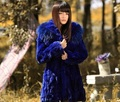 Free Shipping Genuine Rabbit Fur Coat Women Long Rabbit Fur Jacket Waistcoats Custom Big Size Wholesale Retail J471