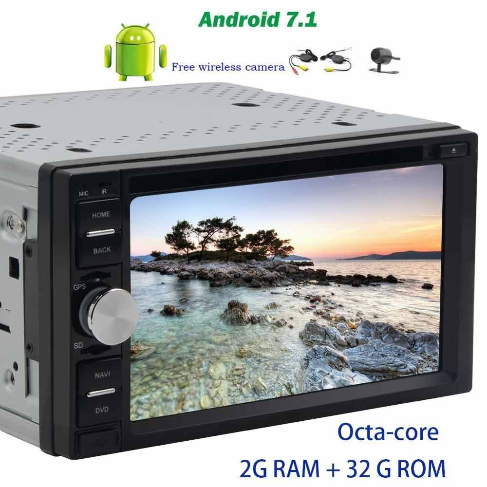 Head Unit car pc 2 Din 7 Android 7.1 Car radio Stereo auto radio GPS support CD DVD Play Bluetooth 4G/3G Wifi DVR+backup camera