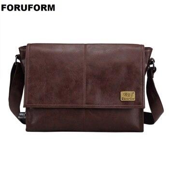 Tasarımcı çantaları erkek 14 inç Laptop çantası erkek PU deri postacı çantası erkek seyahat okul çantaları eğlence omuz çantaları ücretsiz gemi