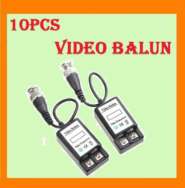 10x UTP Network Video Balun CAT5 to Camera CCTV BNC DVR