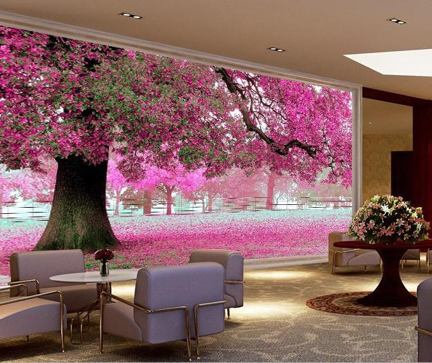 2014 New Factory Direct Conference Painted Tree Wallpaper