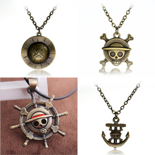 One Piece Luffy Skull Pendant Necklace Chain Pendant