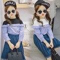 Корейский весна 2017 новые девушки цвет кружева рубашки с длинными рукавами пуловеры рубашка бесплатная доставка