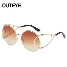 263dc08f70 OUTEYE Sun Glasses Foldable Frame Ladies Mirror Round Sunglasses Women  Vintage